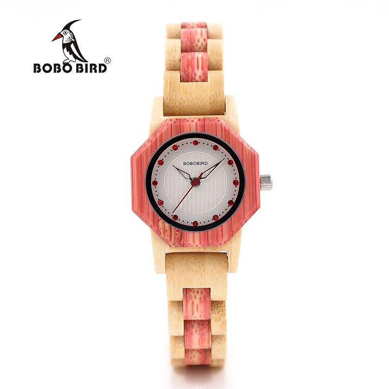 2017 Luxury Ladies Wristwatches BOBO BIRD Full Bamboo Watches Newest Brand Quartz Women Watch relogio feminino 2017 new design bobo bird luxury brand women wood watches bamboo quartz wooden watch relogio feminino c d21