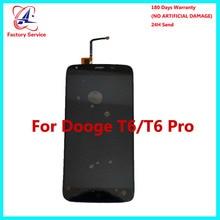 Для 100% Оригинал DOOGEE T6 T6 Pro ЖК-дисплей Дисплей + Сенсорный экран Панель цифровой Запчасти для авто сборки 5,5 дюйма