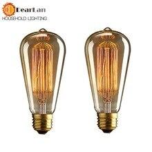 ST64) цена оптовой продажи Мода накаливания Винтаж светильник накаливания остается неизменным, если используется колба Красивые лампы Эдисона, E27/220 V/40 Вт 60*140(мм), старинная лампочка(BD-49