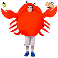 Boys Crab Mascot Emoji Costumes Halloween Carnival Party Funny Emotion Jumpsuit For Children Performance
