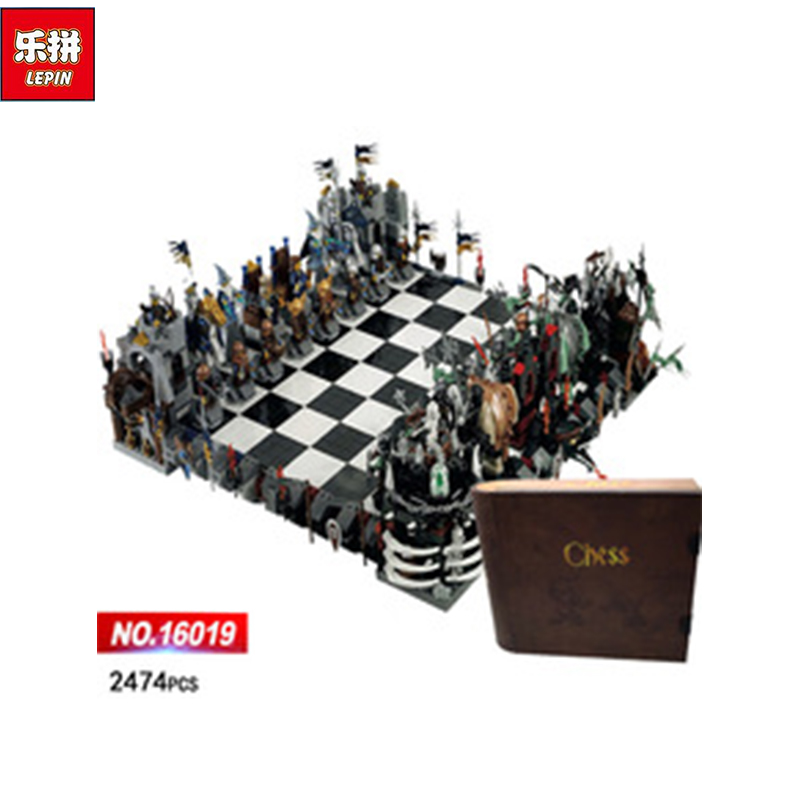 Lepin 16019 Genuine The Castle Giant Chess Set Building Blocks Bricks Movie Series 852293 Educational Toys As Christmas Kid Gift lepin 16017 castle series genuine the king s castle siege set children building blocks bricks educational toys model gifts