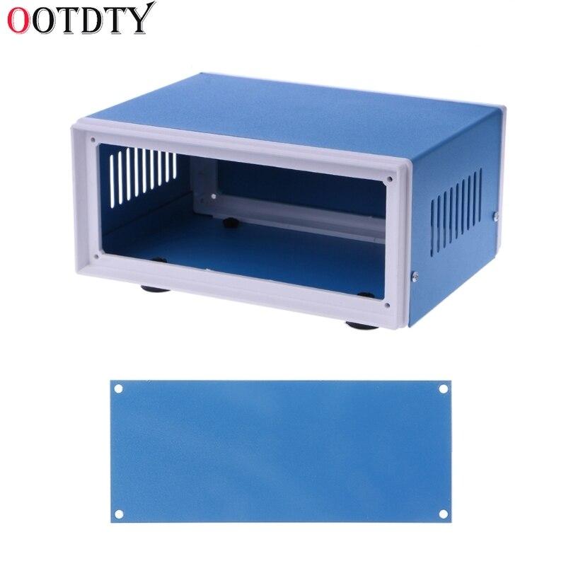 цена на OOTDTY Blue Metal Enclosure Project Case DIY Junction Box 6.7 x 5.1 x 3.1