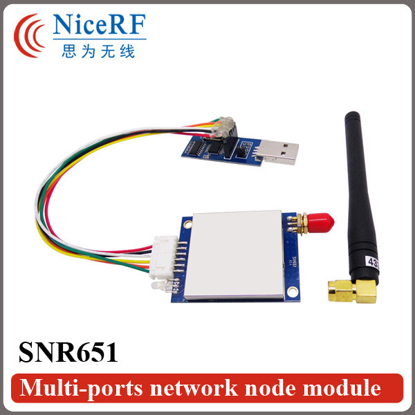 2pcs/pack  SNR651 868MHz RS485 Interface Embedded  Multi-ports Network Node Module for Wireless Networking Data Transmission