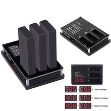3 em 1 Multi Display Digital Carregador de Bateria Inteligente de Carga Rápida Hub para Tello AN88 Zangão
