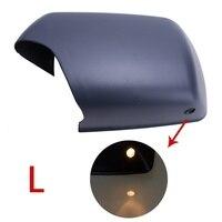 Левое Зеркало Заднего Вида Оболочки Крышку Автомобиль Вид Сбоку Защитный Колпачок с LED Шаг Свет Отверстие Для BMW 3.0i 4.4i E53 2000-2006//