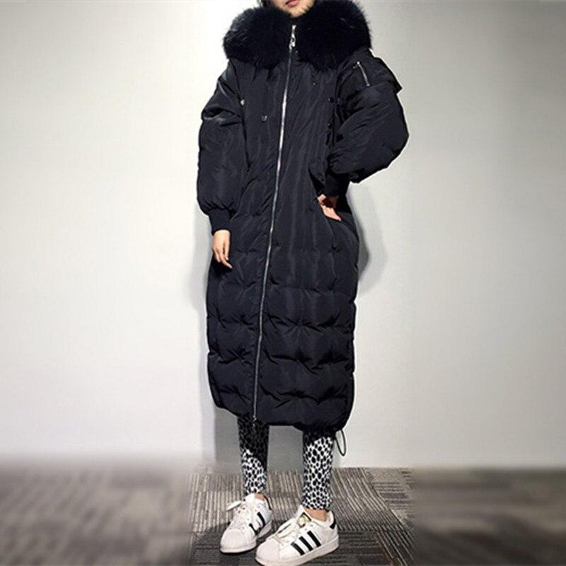 2018 nouvelle mode Parka à capuche hiver veste lâche mode hiver manteau femmes épais pardessus femmes hiver manteau CC366