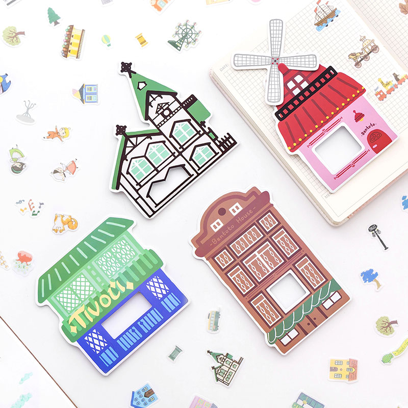 TIVOLI GARDENS Diary Deco Mini Paper Decorative Space Calendar Cute Stickers Scrapbooking Flakes Stationery(China)