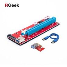 60 см pci-e PCI Express 1X к 16x Riser Card USB3.0 кабель sata кабель питания PCIe Riser 007 для Bitcoin добыча БТД Графика карты