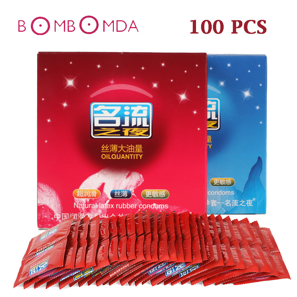 MingLiu 100Pcs Hot Sale Quality Sex Product Natural Latex Condoms For Men Adult Better Sex Toys Safer Contraception Penis Sleeve (2)