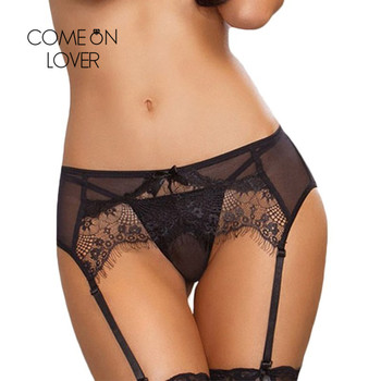 Comeonlover γυναικεία ζαρτιέρα διάφανη με δαντέλα 3xl