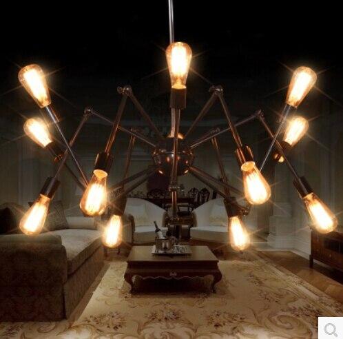 retro přívěsek osvětlení Stretch spider nastavitelná závěsná světla ložnice průmyslové droplight iron Robot Arm kabel přívěsek lampa