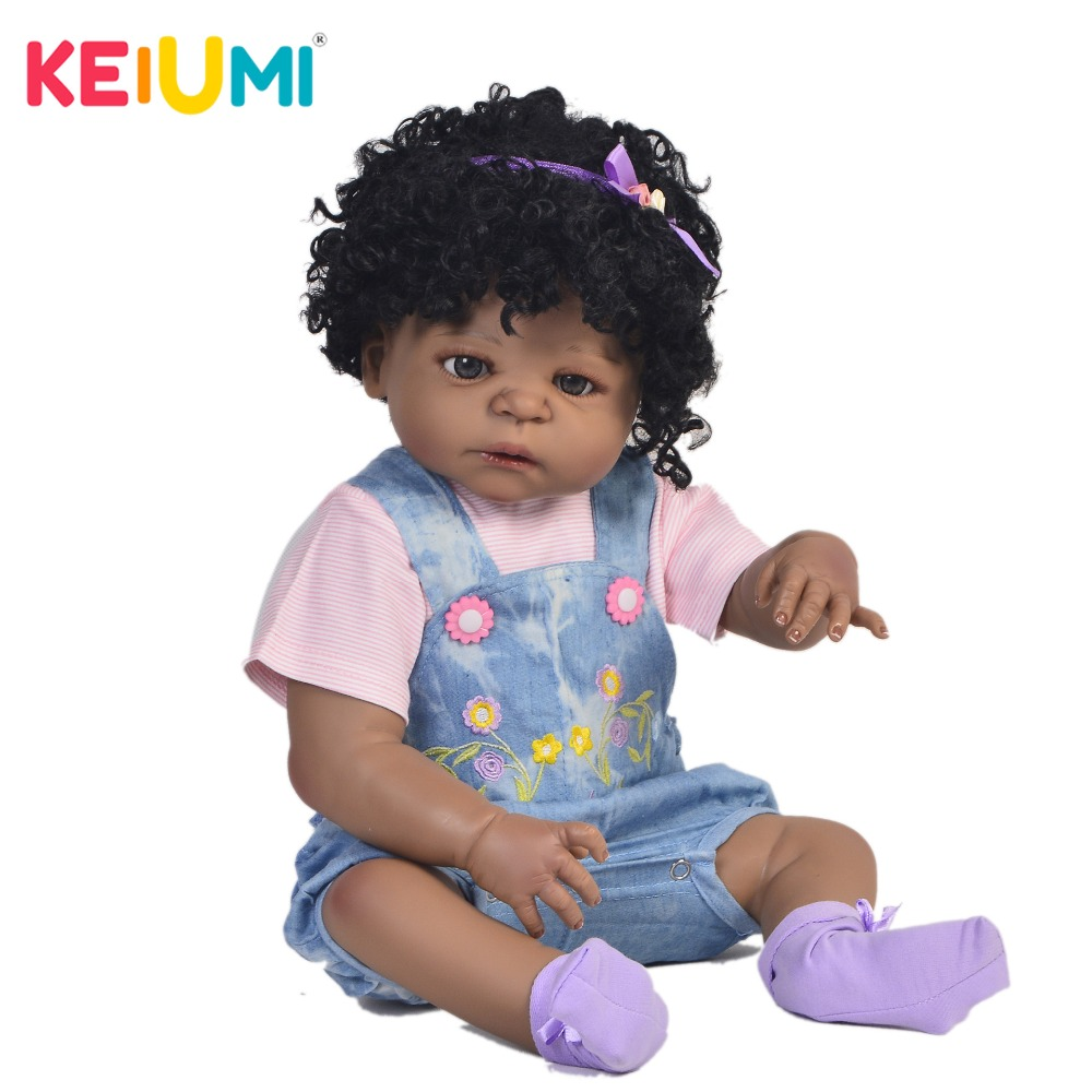 Fashion 23 Realistic Baby Dolls With Explosion Hair Full Silicone Body KEIUMI Reborn Baby Girl Dolls For kids Birthday GiftsFashion 23 Realistic Baby Dolls With Explosion Hair Full Silicone Body KEIUMI Reborn Baby Girl Dolls For kids Birthday Gifts