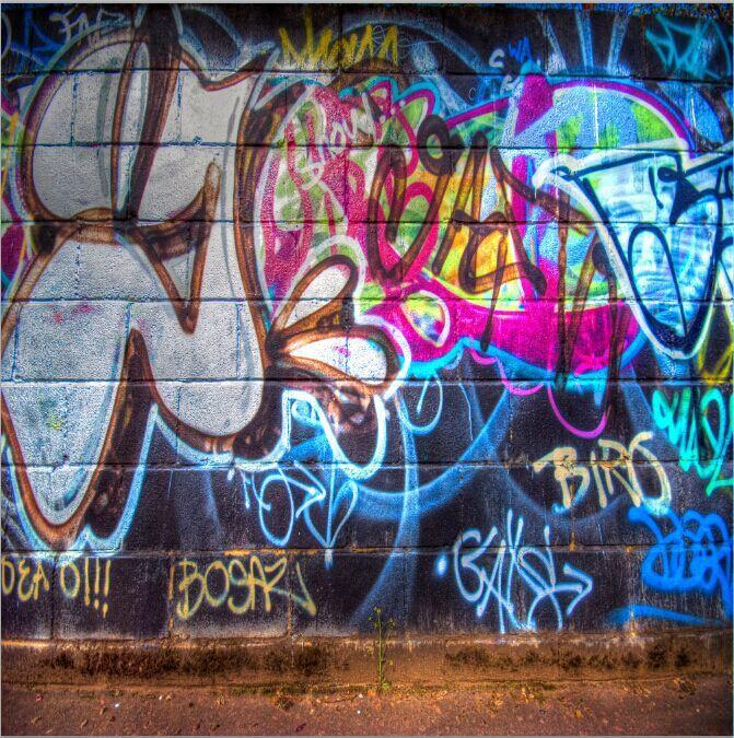 10x10ft Street Hip Hop Graffiti Brick Wall Custom