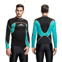 ad60ea5b88 ... Rash Guard DBO. Sbart 1PC 2mm Wetsuit Neoprene For Men Diving Suits  Jacket Scuba Snorkelling Clothing Surfing Kitesurf Sailing