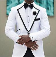 White Unique Latest Design New Arrival Fashion Men Suits Custume Made Tuxedos Desiner 4Pieces Jacket Pant