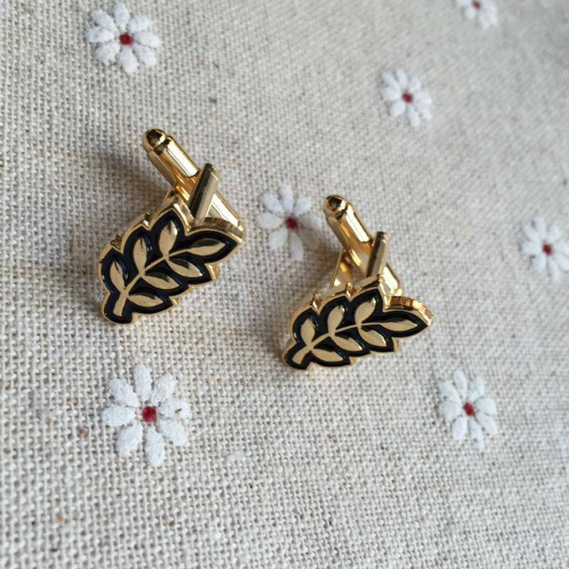 5 pairs Sprig of Acacia Hiram Abiff leaf luxury cufflink for sale masonic designer free masons