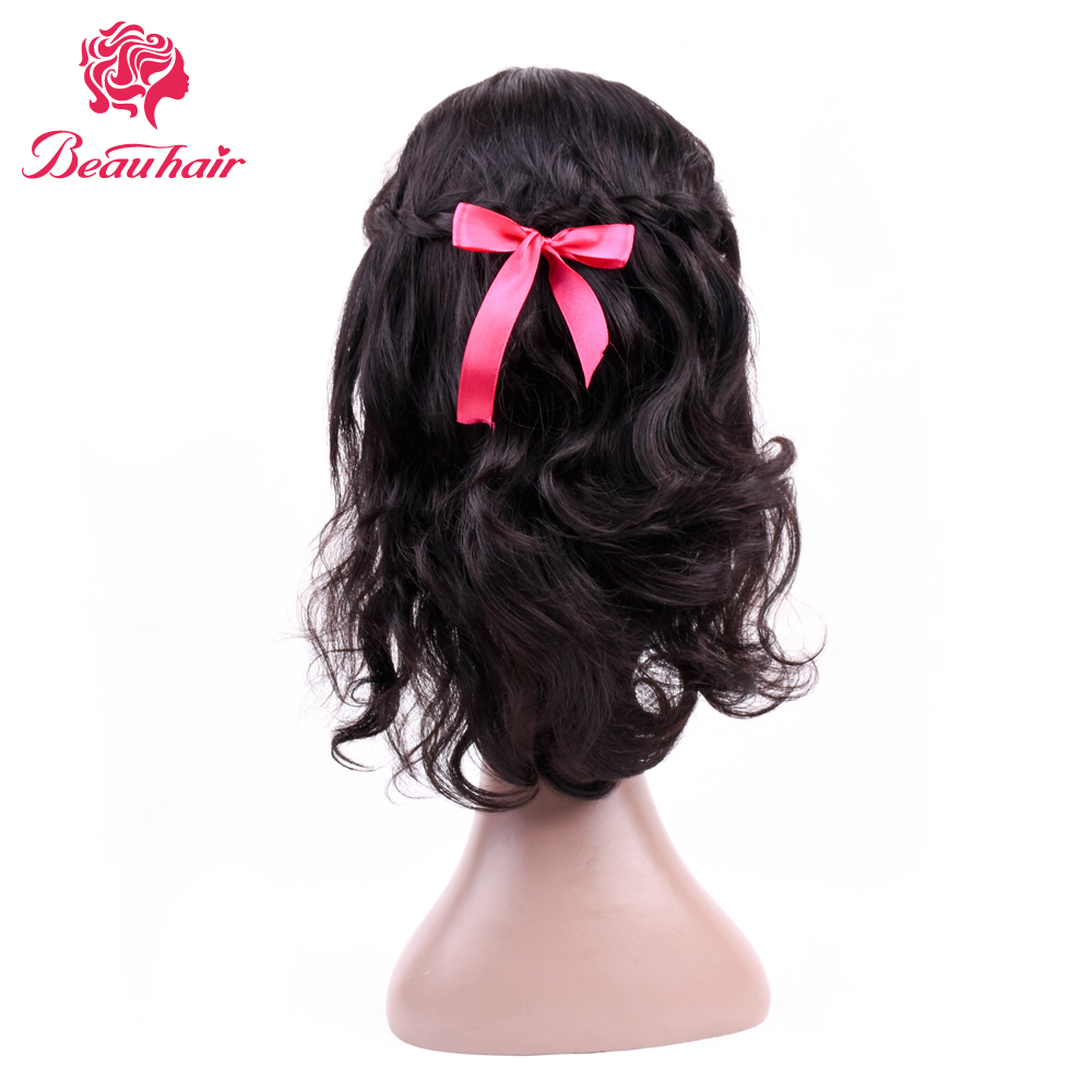 Beau Hair natural color lace front human hair wigs Body Wave 10 inch human hair wigs Non-Remy Hair Extension free shipping
