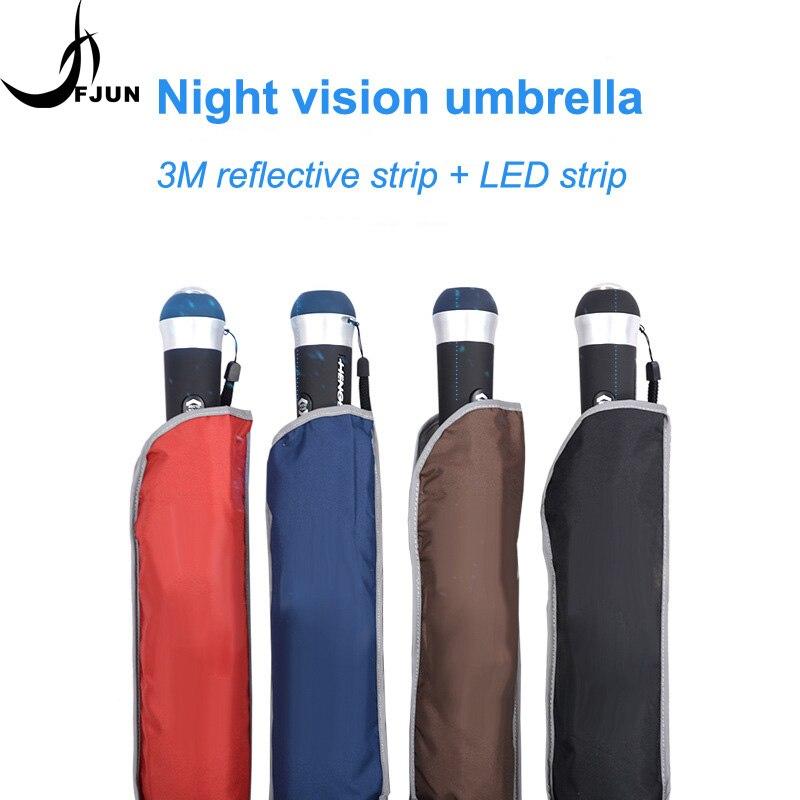 New LED Light Up Umbrella Anti-UV Laser sword Golf Umbrellas 3folding fashion creative Advertising gift umbrella for men parasol