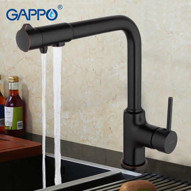 GAPPO wasser filter wasserhähne wasser mischer Schwarz bronze Küche  waschbecken Wasserhahn Messing torneira küche trinken Wasser wasserhahn ...