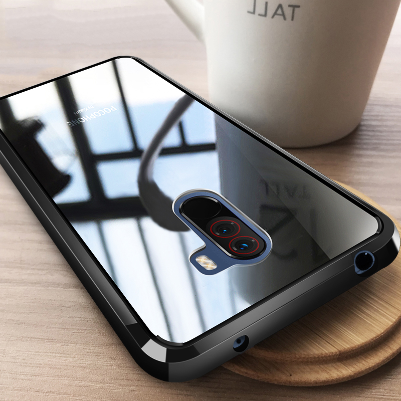 Case For Xiaomi Pocophone F1 Case Shockproof Rugged Bumper Transparent Soft TPU Silicon Phone Protector Case For Pocophone F1