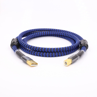 2 3 5ft Gold Plated Audiophile USB DAC Cable A To B Alpha OCC Audio Hifi
