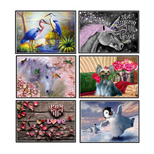 Diy 5d diamond painting animal round mosaic picture embroidery pattern handmade new year gift