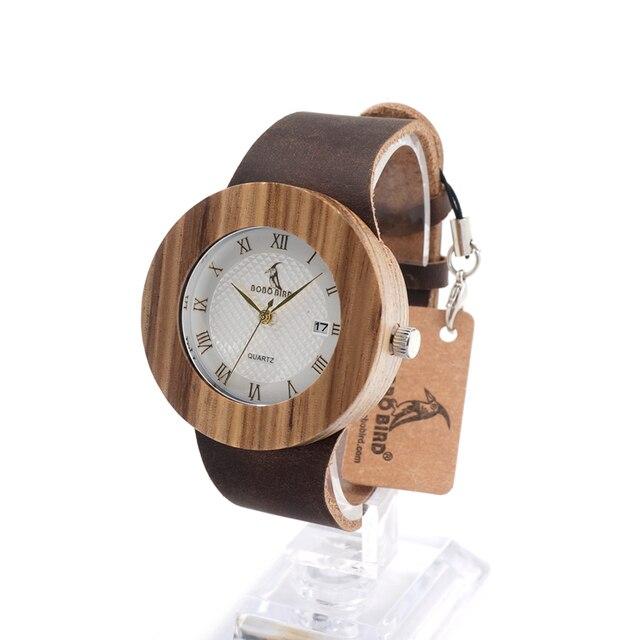 Original Brand Watches BOBO BIRD Men Luxury Watch Men Zebra Wood Wristwatches as Gifts relogio masculino C C01