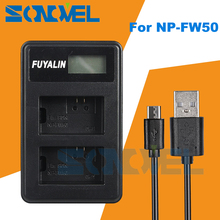 LCD USB Duplo Carregador de Bateria Para Sony NP-FW50 NEX 7 6 5N F3 5R 5 T A7 A7R A7S II A7RII A3100 A5000 A5100 A6000 A6100 A6300 A6500
