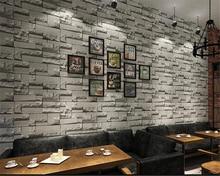 3d imitation brick bricks non  woven wallpaper shop clothing coffee bedroom living room retro tapety