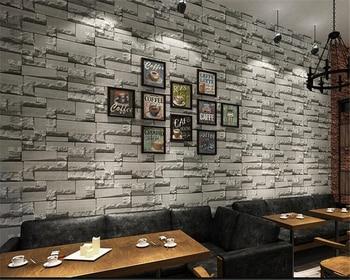 beibehang 3d imitation brick bricks non woven wallpaper shop clothing shop coffee shop bedroom living room retro wallpaper