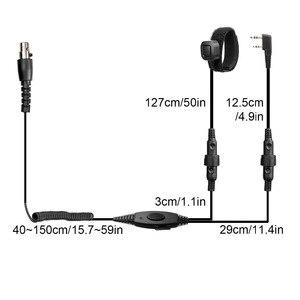Image 4 - Noise Cancelling Luchtvaart Microfoon Headset Walkie Talkie Oortelefoon Vox Volume Aanpassing Voor Kenwood Baofeng UV 5R Retevis H777