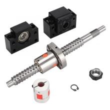 SFU1605 200mm Ball Screw with BK12 BF12 End Supports and 6.35*10mm Shaft Coupler best price ball screw sfu1605