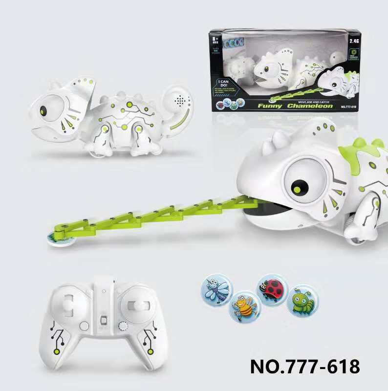Remote Control Chameleon 2.4GHz Pet Intelligent Toy Robot For Children Kids Birthday Gift Funny Hot  Sell Toy RC Animals Boy Toy