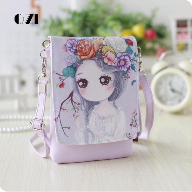 QZH Cartoon cute Women Handbags kids girls Messenger bag Shoulder Bag Party Handbag for baby girl kindergarten gift girls mini messenger bag cute plush cartoon kids baby small coin purses lovely baby children handbags kids shoulder bags bolsa