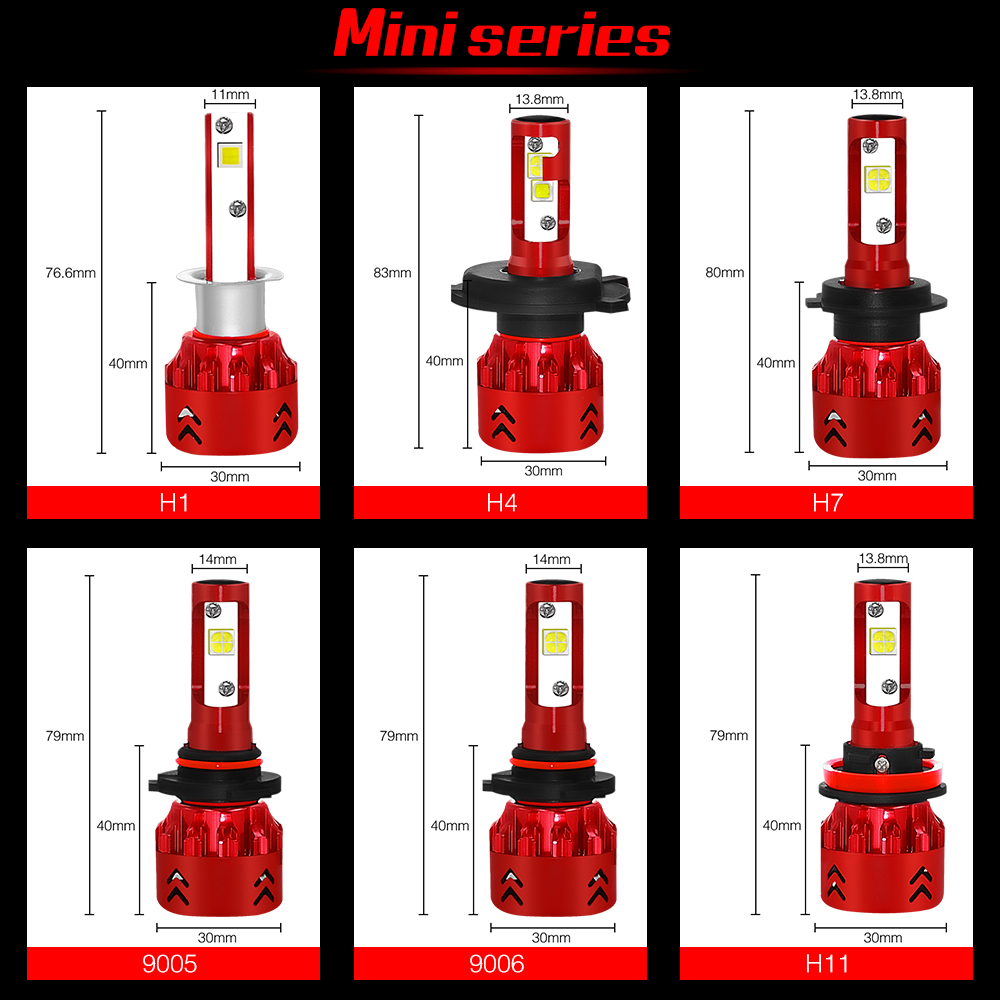 2x Car Led Headlight Bulbs 80W 12000LM H4 LED H7 H11 H8 H1 HB4 LED Headlamp High Bright XHP50 Lamp beads Automatic car headlight in Car Headlight Bulbs LED from Automobiles Motorcycles