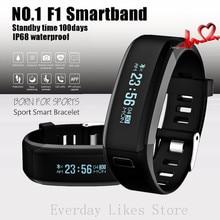Оригинальный № 1 F1 Smartband Смарт Браслеты Спорт Группа Умный Браслет Вызовов Напоминание Монитор Сердечного ритма IP68 Водонепроницаемый