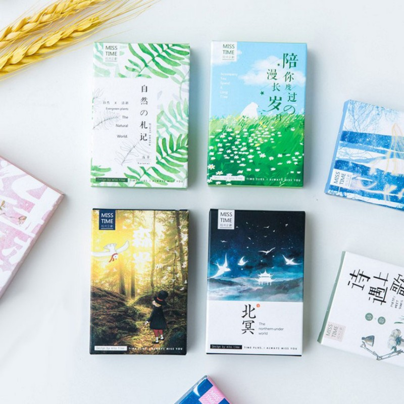 28pcs box Different style creative plant lomo cards gift message card Greeting card postcard