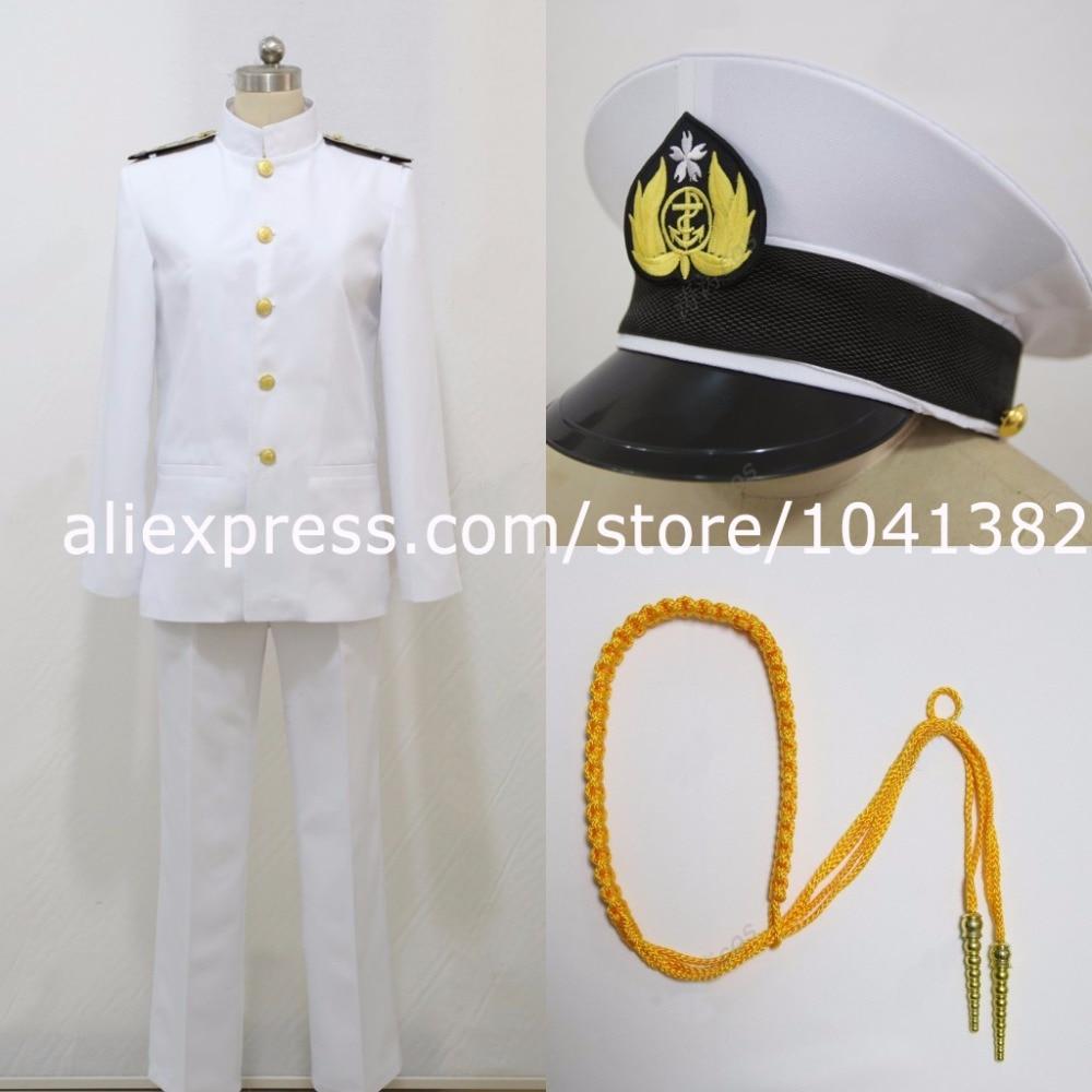 Nouvel Arrivel Kantai Collection T amiral uniformes t cosplay uniforme homme et femme cos personnalisé n'importe quelle taille
