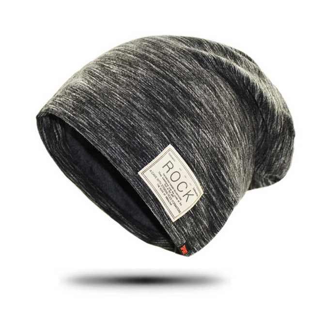 placeholder Beanie Winter Rock Wool Hip Hop Cap Men Fleece Hat Slouchy Male  Baggy Caps Warm Skullies a9d305d4ad2