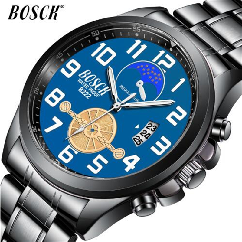 Men's Waterproof Sport Watch Bosck Top Brand Luxury Wrist Watch Men Stainless Steel Luminous Military Watches Clock Reloj Hombre цена