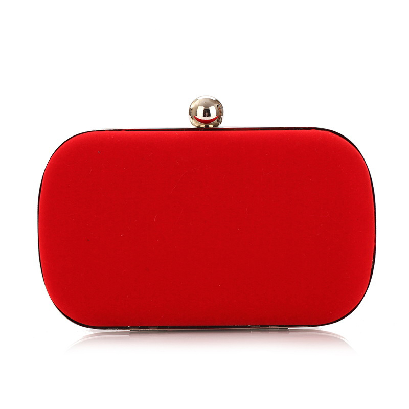 Womens Red Clutch Bag Messenger Shoulder Handbag Evening Party Prom Bag-in Evening Bags From ...