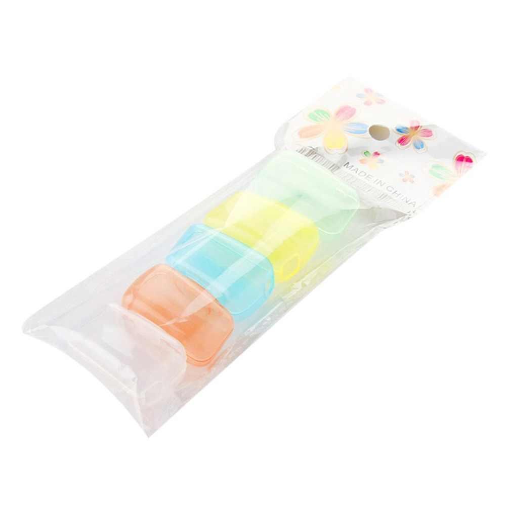 5 cabeças da escova de dentes dos pces cobrem o tampão protetor plástico dos pp impedem as bactérias portáteis para a cabeça da escova da casa do curso ao ar livre anti-poeira
