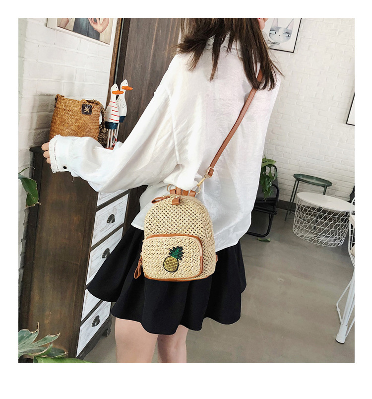 Mini shoulder bag female 2019 new straw bag fashion woven bag casual small bag in Backpacks from Luggage Bags