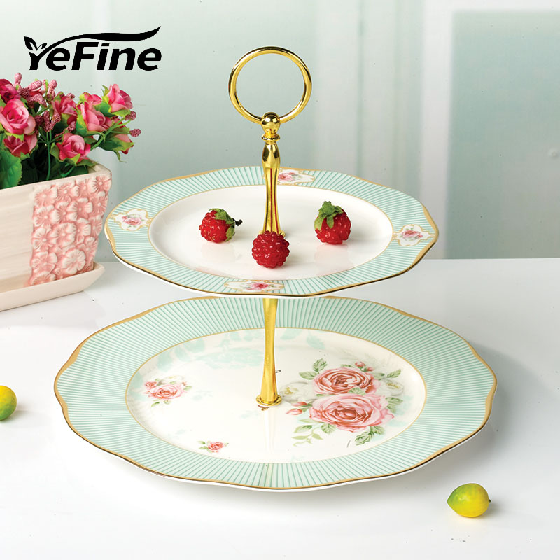 YeFine Ceramic Cake Holder Stand High Quality Bone China