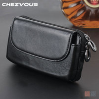 CHEZVOUS Universal 4 0 6 0 Belt Clip Pouch Genuine Leather Case For Iphone5 6 7