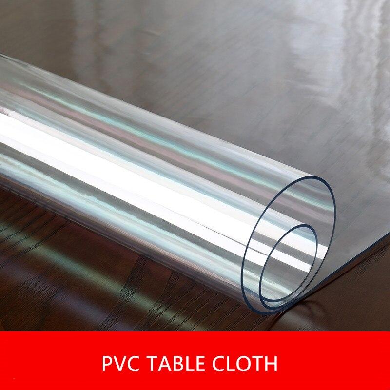 1.5mm/2mm/3mm de Espessura Pvc Tampas De Tabela Protetor Almofada de Mesa Toalha De Mesa Retângulo de Vidro Macio Transparente tampo da Mesa de jantar Pano De Dezembro