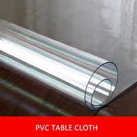 1,5mm/2mm/3mm de espesor de Pvc cubierta de mesa transparente mantel rectangular Protector de escritorio suave de vidrio mantel de comedor Dec