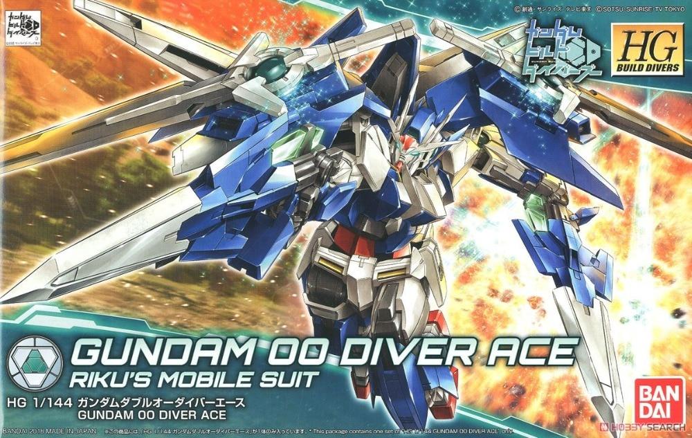 все цены на Bandai Gundam HGBD 1/144 HGBD 009 Gundam Double Oh Diver Ace Model Kits Scale Building Toys Of Children онлайн