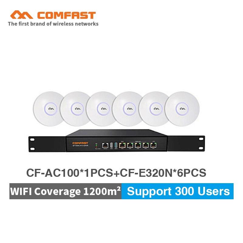 COMFAST 300 Мбит/с Беспроводной потолка AP 48 В POE точка доступа Wi-Fi Крытый AP Wi-Fi роутера + Gigabit AC ворота способ для гостиницы wi-fi покрытие