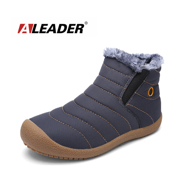 5cb5ffb2122 2017 Winter Warm Snow Boots Men Waterproof Ankle Boots Casual Men Fur Shoes  Outdoor Flat Fashion